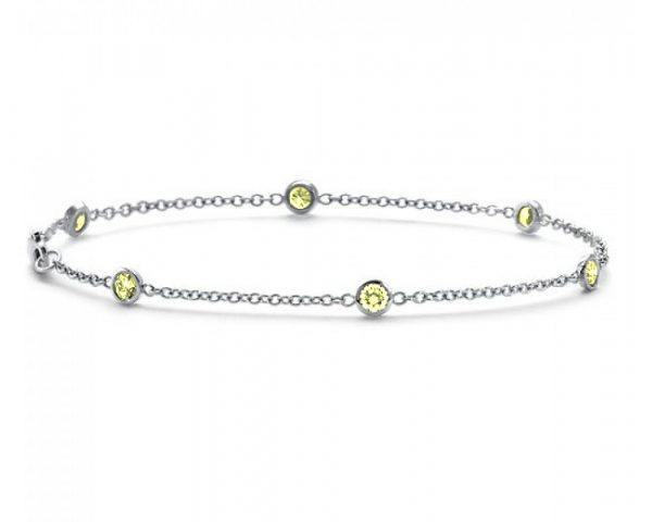 bracciale-oro-bianco-e-zaffiri-gialli-1