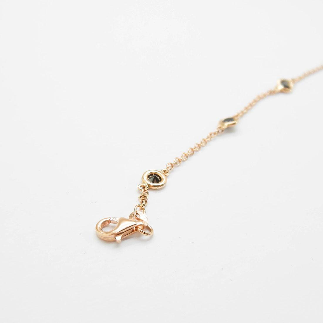 il-marchese-diamonds-diamanti-gioielli-artigianali-bracciale-maglia-oro-rosa-diamanti-neri-2