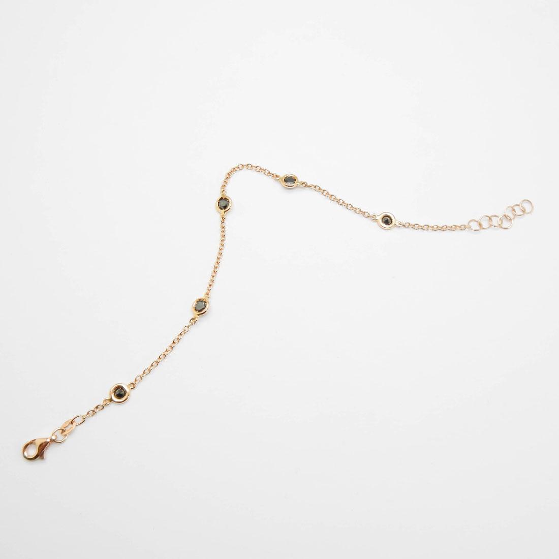 il-marchese-diamonds-diamanti-gioielli-artigianali-bracciale-maglia-oro-rosa-diamanti-neri-3