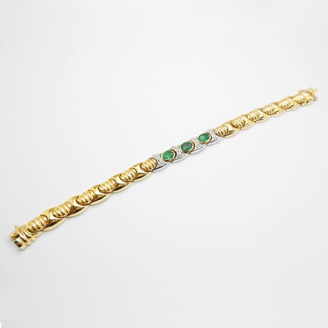 il-marchese-diamonds-gioielli-artigianali-bracciale-maglia-oro-giallo-smeraldi-pezzi-unici-collezione-3