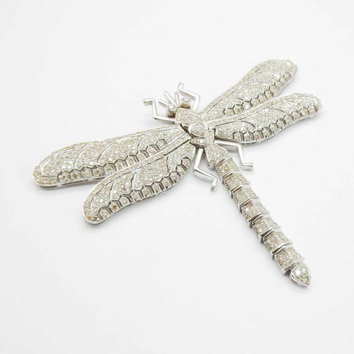il-marchese-diamonds-gioielli-artigianali-pendente-libellula-oro-bianco-1