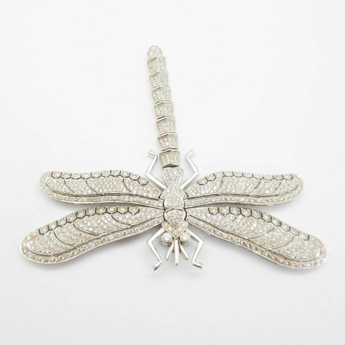 il-marchese-diamonds-gioielli-artigianali-pendente-libellula-oro-bianco-2