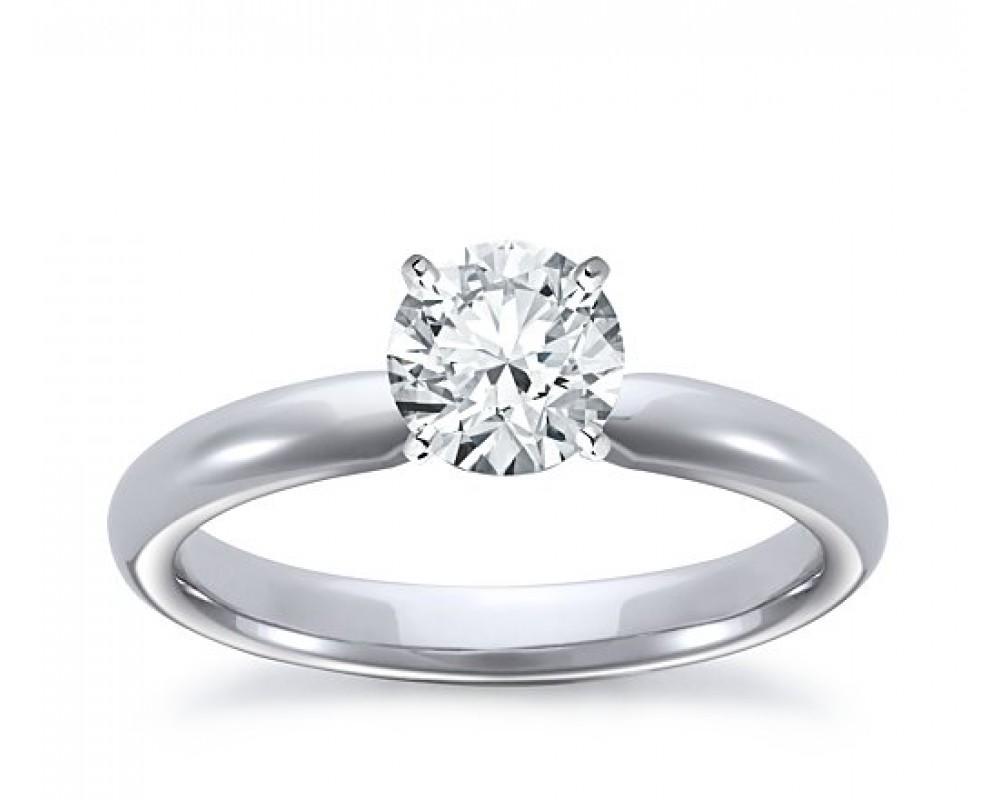 vente énorme pas cher à vendre meilleur endroit pour Anello in Oro Bianco con Diamante da 0.15 ct